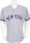 Baseball Collectibles:Uniforms, Circa 1993 Don Mattingly Game Worn New York Yankees Jersey....