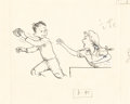 Mainstream Illustration, GARTH WILLIAMS (American, 1912-1996). Stuart Little, A New Law,page 95 illustration, 1945. Ink on paper. 7 x 8.5 in.. N...