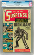 Silver Age (1956-1969):Superhero, Tales of Suspense #39 (Marvel, 1963) CGC VG- 3.5 Off-white to white pages....