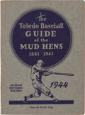Baseball Collectibles:Publications, 1943 Toledo Mudhens Record Guide....
