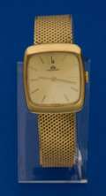 Timepieces:Wristwatch, Bucherer 18k Gold Gent's Watch, 18k Band. ...