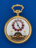 Timepieces:Pocket (post 1900), Hebdomas 8- Day Gold Plate Pocket Watch. ...