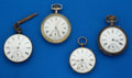 Timepieces:Pocket (post 1900), Lot of Four Running Swiss Pocket Watches. ... (Total: 4 Items)
