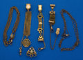 Timepieces:Watch Chains & Fobs, Six Piece Ladies Fob & Pin Lot. ... (Total: 6 Items)