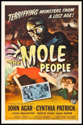 "Movie Posters:Science Fiction, The Mole People (Universal International, 1956). One Sheet (27"" X41""). Science Fiction.. ..."