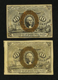 Fractional Currency:Second Issue, Fr. 1245 and 1246 10¢ Second Issue Notes About New.. ... (Total: 2 notes)