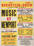 Music Memorabilia:Posters, Music at Newport Festival Concert Poster (Sid Bernstein and JohnDrew, 1961)....