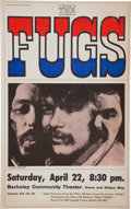 Music Memorabilia:Posters, The Fugs Berkeley Community Theater Concert Poster (1967)....
