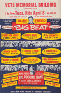 Music Memorabilia:Posters, Alan Freed Big Beat Concert Handbill (1958)....