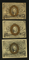 Fractional Currency:Second Issue, Three Second Issue Notes.. ... (Total: 3 notes)