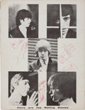 Music Memorabilia:Autographs and Signed Items, Rolling Stones Band-Signed Tour Book....