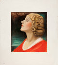 Mainstream Illustration, CHARLES GATES SHELDON (American, 1889-1960). Portrait of MaryPickford. Oil on board. 15.25 x 14 in.. Signed lower right...