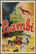 "Movie Posters:Animated, Bambi (RKO, R-1948). One Sheet (27"" X 41""). Animated.. ..."