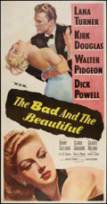"Movie Posters:Drama, The Bad and the Beautiful (MGM, 1953). Three Sheet (41"" X 81"").Drama.. ..."