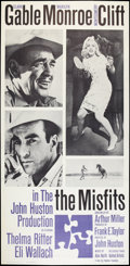 "Movie Posters:Drama, The Misfits (United Artists, 1961). Three Sheet (41"" X 81"").Drama.. ..."