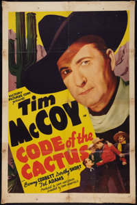 """Code of the Cactus (Victory, 1939). One Sheet (27"""" X 41""""). Western"""