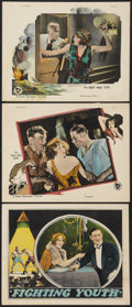 "Movie Posters:Crime, Fighting Youth (Columbia, 1925). Lobby Cards (3) (11"" X 14""). Crime.. ... (Total: 3 Items)"