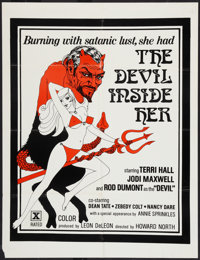 """The Devil Inside Her Lot (Leisure Time Booking, 1977). One Sheets (2) (25"""" X 33"""" and 26.5"""" X 41""""). A..."""