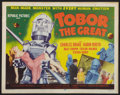 "Movie Posters:Science Fiction, Tobor the Great (Republic, 1954). Title Lobby Card (11"" X 14"").Science Fiction.. ..."