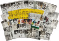 Baseball Collectibles:Others, Major League Greats Vintage Postcards and Photographs Lot of112....