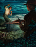 Mainstream Illustration, PAUL RABUT (American, 1914-1983). Rendezvous with Death,Saturday Evening Post story illustration, September 27, 1952.M... (Total: 2 Items)