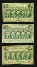 Fractional Currency:First Issue, 50¢ First Issue Notes.. ... (Total: 3 notes)
