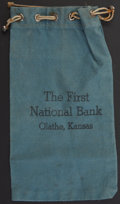Miscellaneous:Other, Olathe, KS- First National Bank Draw String Bank Bag.. ...
