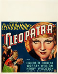 "Movie Posters:Historical Drama, Cleopatra (Paramount, 1934). Jumbo Window Card (22"" X 28"").. ..."