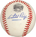 Autographs:Baseballs, Circa 1970 Satchel Paige Single Signed Baseball....