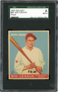 Baseball Cards:Singles (1930-1939), 1933 Goudey Joe Cronin #63 Progressive Proof SGC-Authentic....