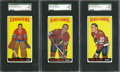 Hockey Cards:Lots, 1964-65 Topps Hockey SGC 92 NM/MT+ 8.5 Trio (3). ...
