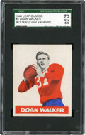 Football Cards:Singles (Pre-1950), 1948 Leaf Doak Walker Rookie #4 SGC 70 EX+ 5.5 - WhiteBackground....