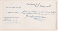 "Autographs:Authors, Charles Dickens. Autograph Document Signed, ""Charles Dickens"", onepage, 7"" x 3.875"", Baltimore, February 10, 1868. To Georg..."