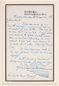 "Autographs:Authors, Charles Dickens. Autograph Letter Signed ""Charles Dickens"", withDickens Cabinet Photograph and a CDV of Gad's Hill Place, o..."