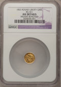 California Fractional Gold, 1853 50C Liberty Round 50 Cents, BG-421, R.4,--Mount Removed--NGCDetails. AU. NGC Census: (0/14). PCGS Population (0/107)....