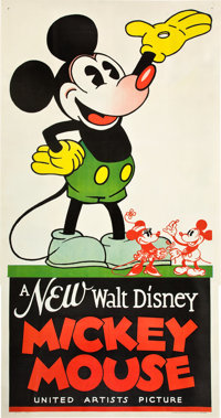 "Mickey Mouse Stock Poster (United Artists, 1932). Three Sheet (41"" X 81"")"