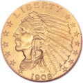 Proof Indian Quarter Eagles, 1908 $2 1/2 PR66 NGC....