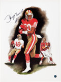 Football Collectibles:Photos, Jerry Rice Signed Lithograph. ...