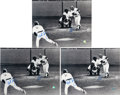 Autographs:Photos, Bucky Dent And Mike Torrez Dual Signed Oversized Photos Lot Of3....