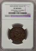Large Cents: , 1839 1C Booby Head--Improperly Cleaned--NGC Details. XF. NGCCensus: (0/140). PCGS Population (6/110). Mintage: 3,128,661. ...