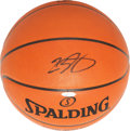 "Basketball Collectibles:Balls, LeBron James ""Upper Deck Authenticated"" Signed Basketball.'..."