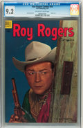 Golden Age (1938-1955):Western, Roy Rogers Comics #74 (Dell, 1954) CGC NM- 9.2 Off-white to white pages. ...