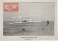 "Autographs:Inventors, Orville Wright Photocard Signed ""Orville Wright"" in ink in the lower left corner. This ""First Man-Flight"" postcard (..."