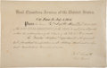 "Autographs:U.S. Presidents, Ulysses S. Grant Military Pass Signed ""U. S. Grant / Lieut: General."" One partly-printed vellum page, 12"" x 7.75"", C..."