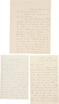 "Autographs:Military Figures, William T. Sherman Autograph Letters (3) Signed. All are signed""W. T. Sherman"" and were written between 1886 and 1888 t...(Total: 3 Items)"