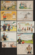 Non-Sport Cards:Lots, 1880's-1940's Trade Cards and Post Cards (17 pieces) - Most Comics Related with '16 Charlie Chaplin Postcard. ...