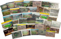 Baseball Collectibles:Others, Dodgers and Giants Vintage Postcards Lot of 40....