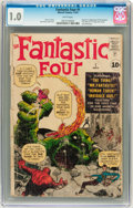 Silver Age (1956-1969):Superhero, Fantastic Four #1 (Marvel, 1961) CGC FR 1.0 White pages....