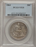 Seated Half Dollars: , 1864 50C VF35 PCGS. PCGS Population (3/82). NGC Census: (1/76).Mintage: 379,100. Numismedia Wsl. Price for problem free NG...