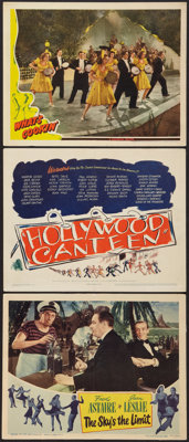 """The Sky's the Limit Lot (RKO, 1943). Lobby Cards (2) and Title Lobby Card (11"""" X 14""""). Musical. ... (Total: 3..."""